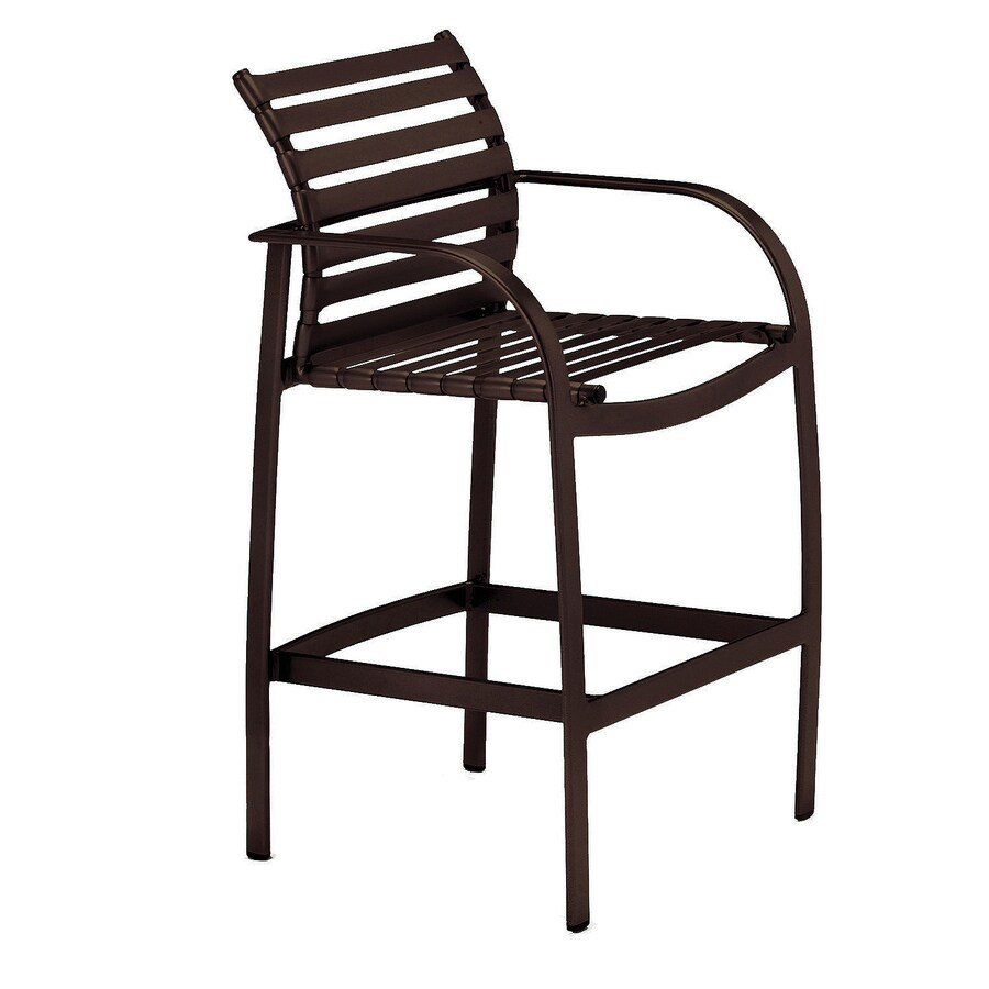 Sun Isle Preston Java Aluminum Patio Barstool Chair