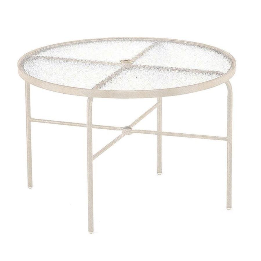 Sun Isle 42-in W x 42-in L Round Aluminum Dining Table
