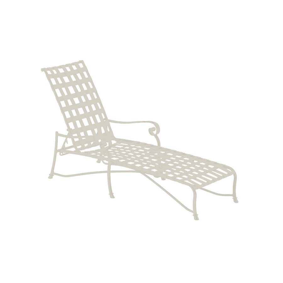 shop sun isle caitlyn antique bisque aluminum patio chaise lounge chair at. Black Bedroom Furniture Sets. Home Design Ideas