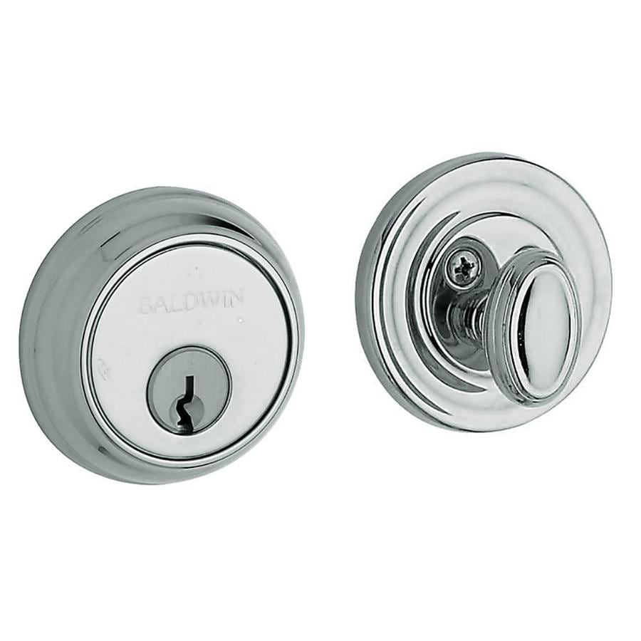 BALDWIN Estate Traditional Polished Chrome Single-Cylinder Deadbolt