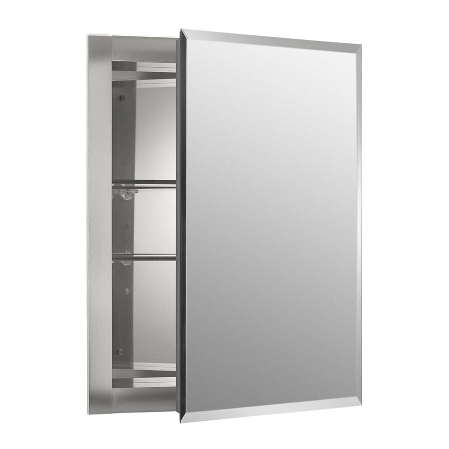 KOHLER 16-in x 20-in Rectangle Recessed Aluminum Medicine Cabinet