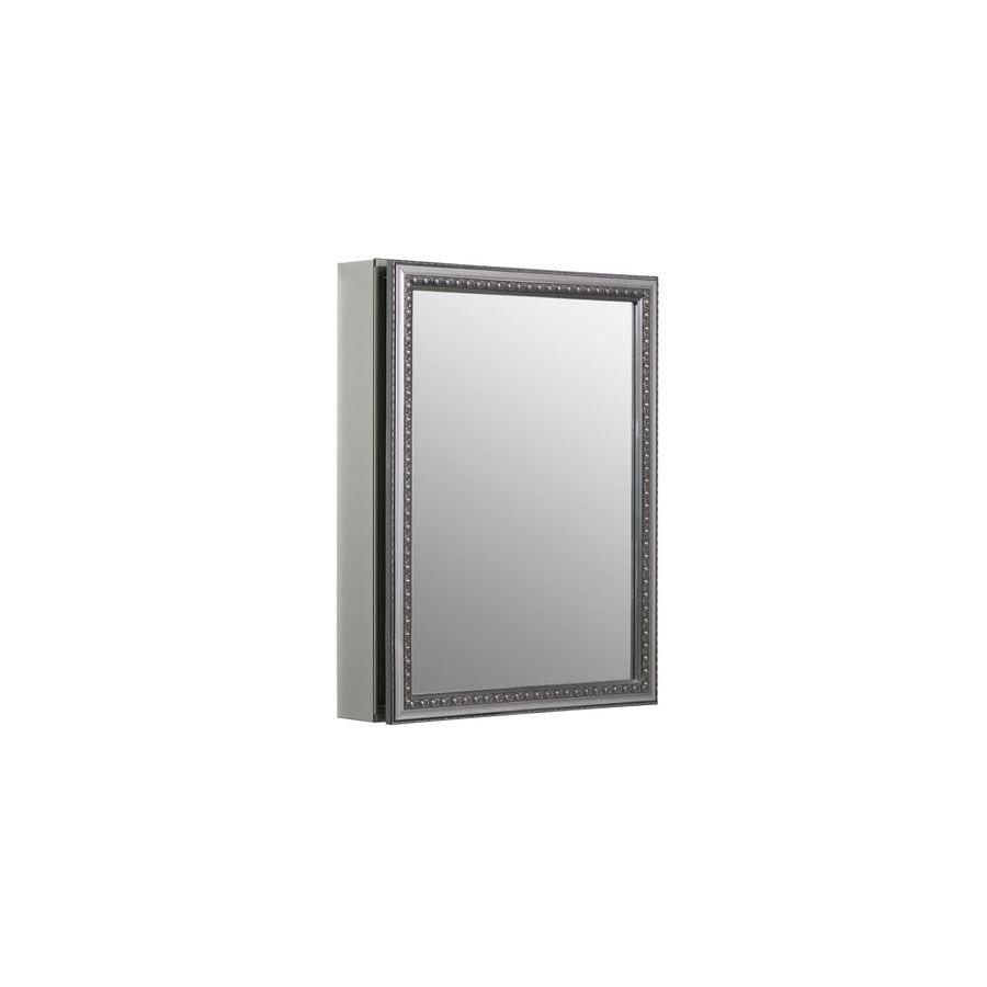 KOHLER 20-in x 26-in Rectangle Recessed Aluminum Medicine Cabinet