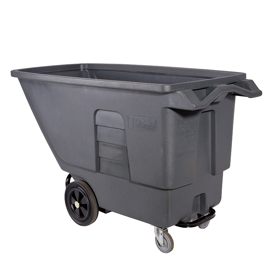 Toter 151.48-Gallon Textured Industrial Gray Plastic Wheeled Trash Can