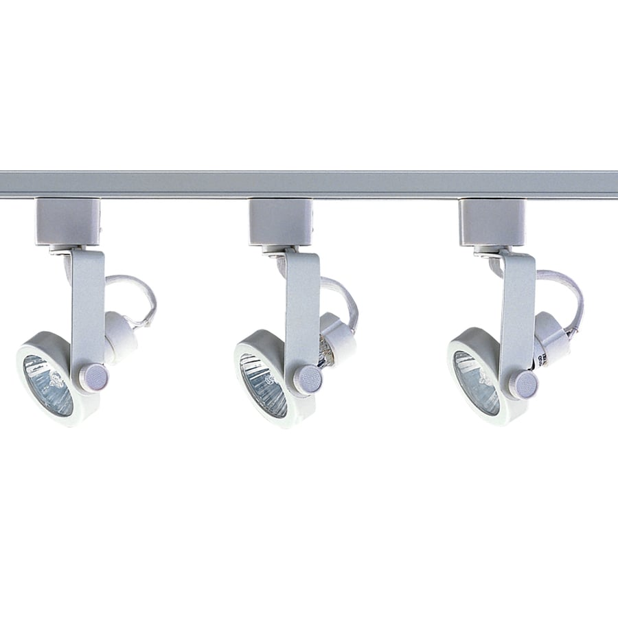 light 48 in white gimbal linear track lighting kit at. Black Bedroom Furniture Sets. Home Design Ideas