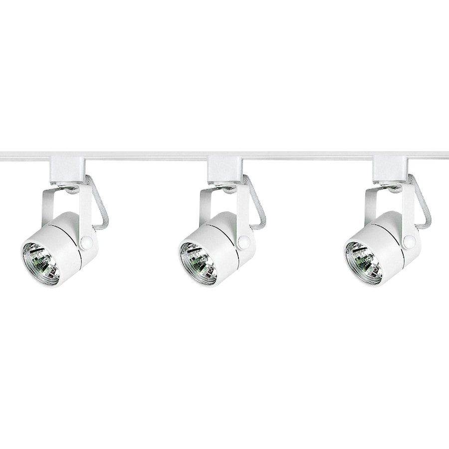 Royal Pacific 3-Light 48-in White Roundback Linear Track Lighting Kit