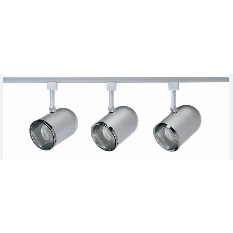 Royal Pacific 3-Light 48-in Brushed Aluminum Roundback Linear Track Lighting Kit