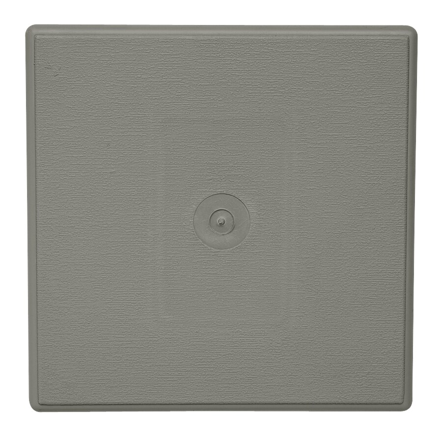 Durabuilt 6.625-in x 6.625-in Sagebrook/Pebble Vinyl Universal Mounting Block