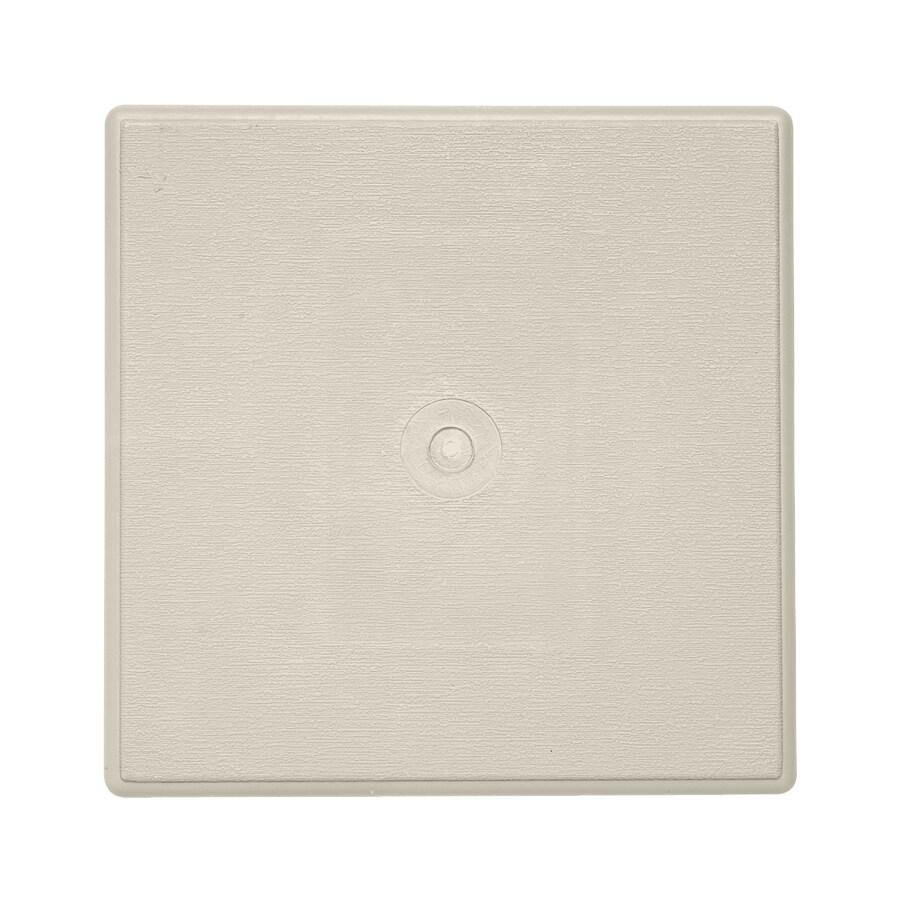 6-in x 6-in Almond Vinyl Universal Mounting Block