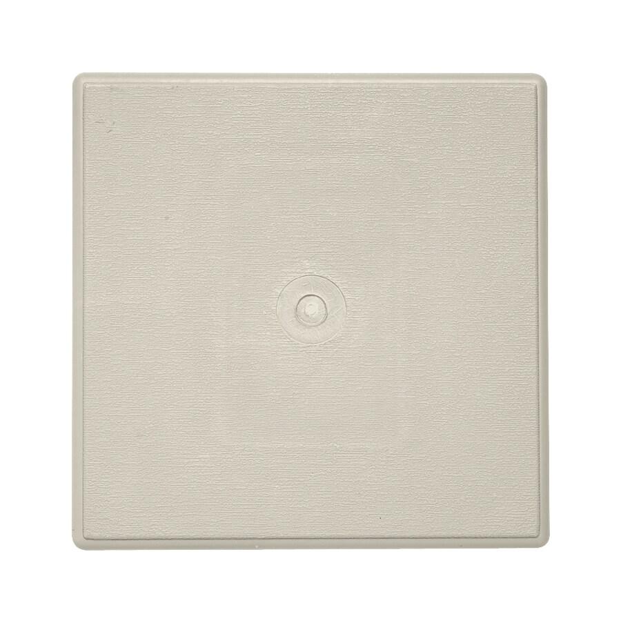 6.625-in x 6.625-in Pearl Vinyl Universal Mounting Block