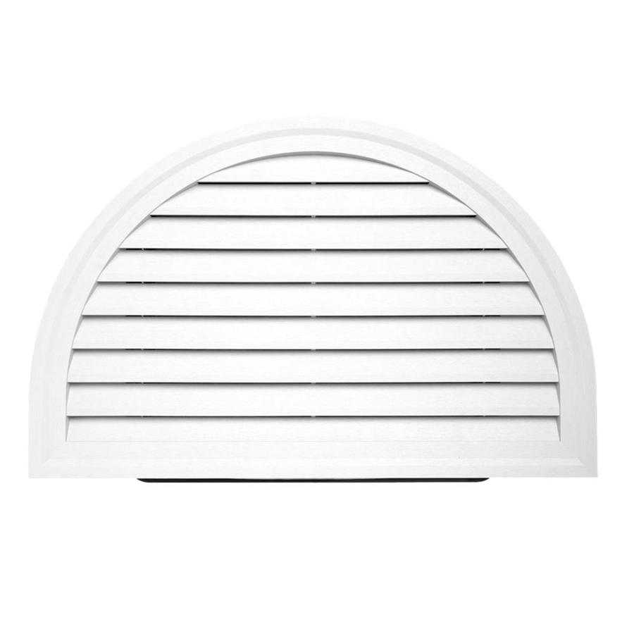 18-in x 20-in White Half Round Vinyl Gable Vent