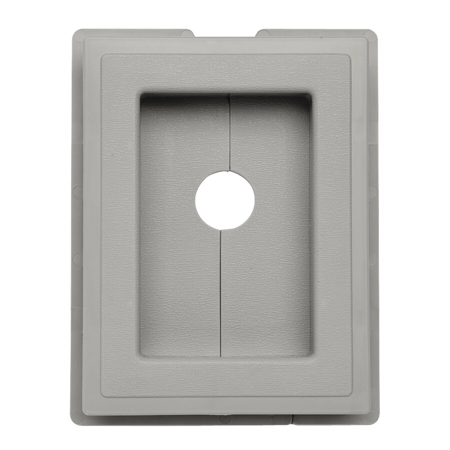 Durabuilt 6.875-in x 5.5-in Cactus/Pebble Vinyl Electrical Mounting Block