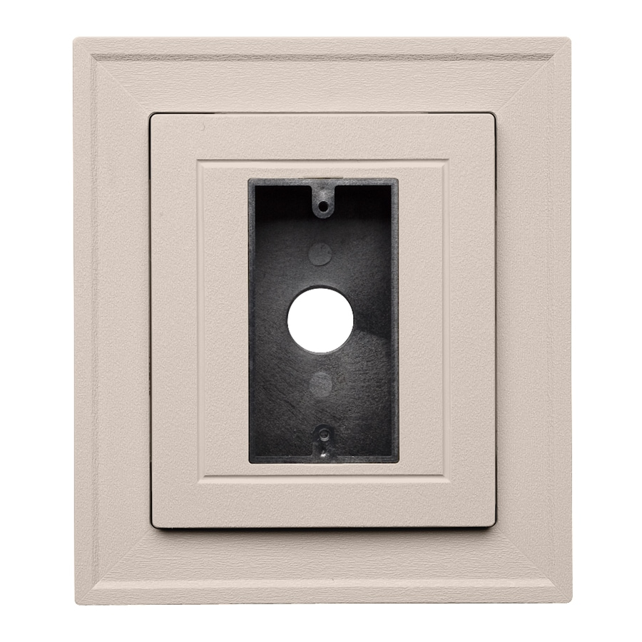 Durabuilt 8.25-in x 8.25-in Beige/Pebble Vinyl Electrical Mounting Block