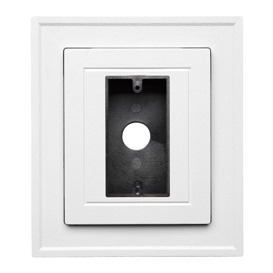 Durabuilt 8.25-in x 8.25-in White/Pebble Vinyl Electrical Mounting Block