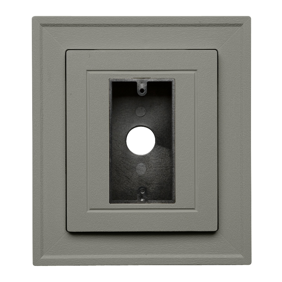 Durabuilt 8.25-in x 8.25-in Sagebrook/Pebble Vinyl Electrical Mounting Block