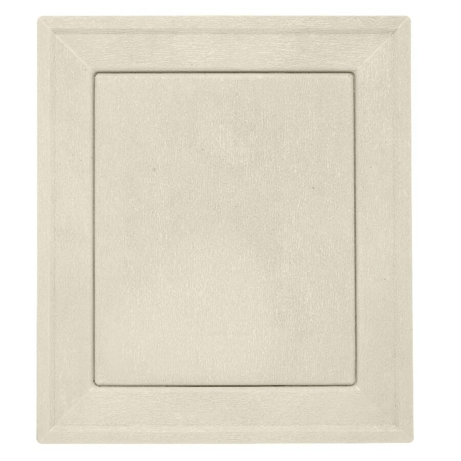 Durabuilt 7.875-in x 8.9375-in Cream/Pebble Vinyl Universal Mounting Block