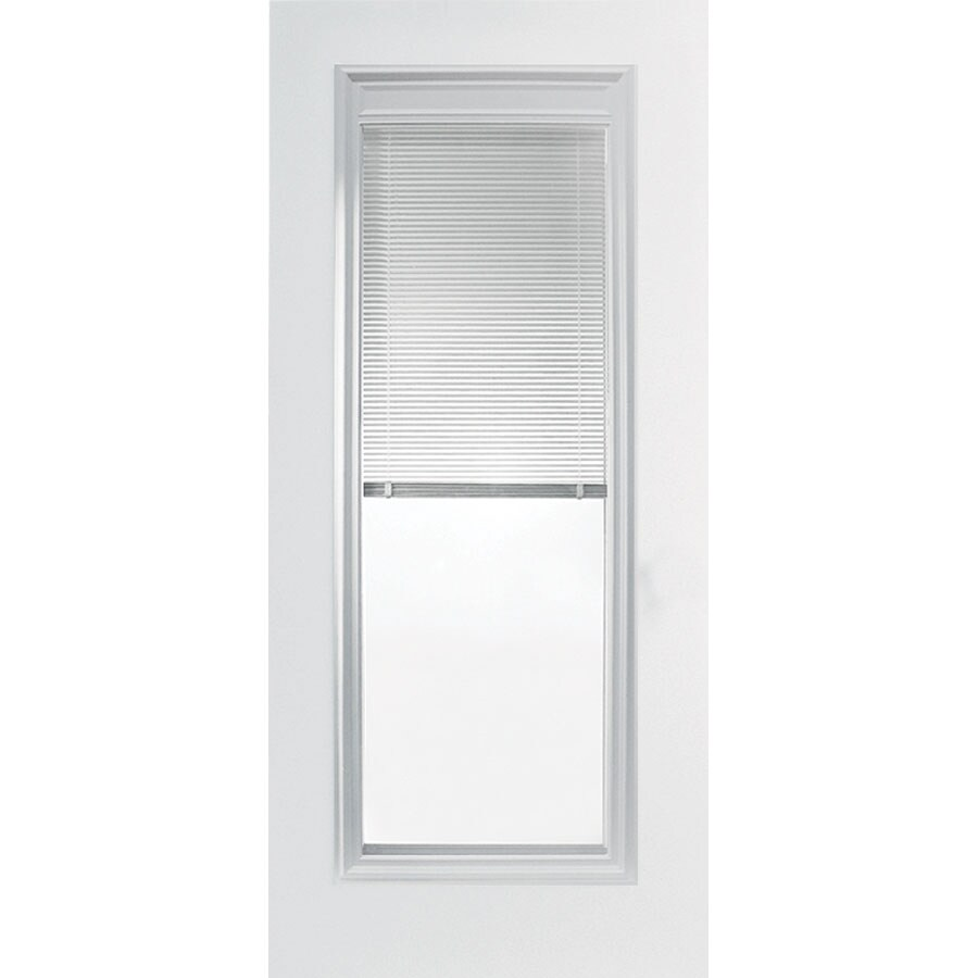 Shop Reliabilt 36 Mini Blind Full Lite Steel Entry Door Unit Left Hand At