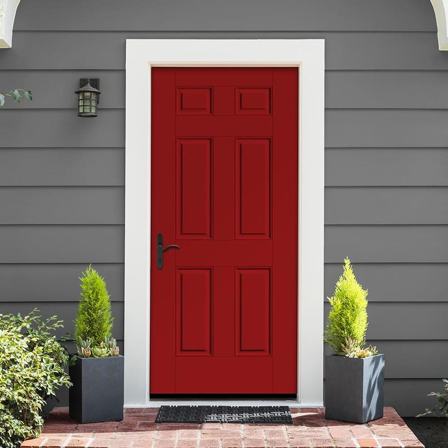 Therma Tru Benchmark Doors 36 In X 80 In Fiberglass Right Hand Inswing Ready To Paint Unfinished Prehung Single Front Door Brickmould Included In The Front Doors Department At Lowes Com I was trying to find some sort of lowes clearance link similar to the amazon warehouse one posted a few weeks ago. lowe s