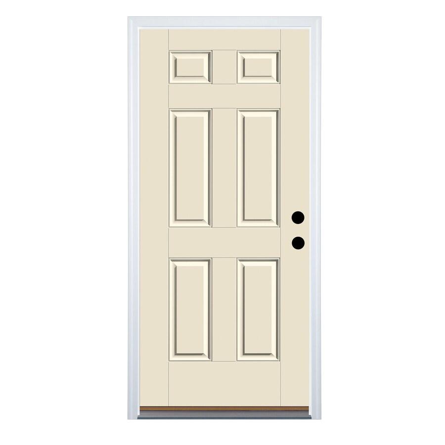Therma-Tru Benchmark Doors 6-Panel Insulating Core Left-Hand Inswing Fiberglass Unfinished Prehung Entry Door (Common: 36-in x 80-in; Actual: 37.5-in x 81.5-in)