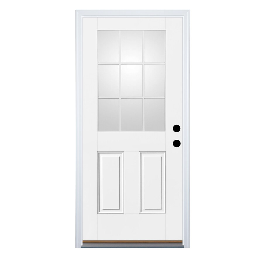 Shop therma tru benchmark doors 2 panel insulating core 9 for 9 light exterior door