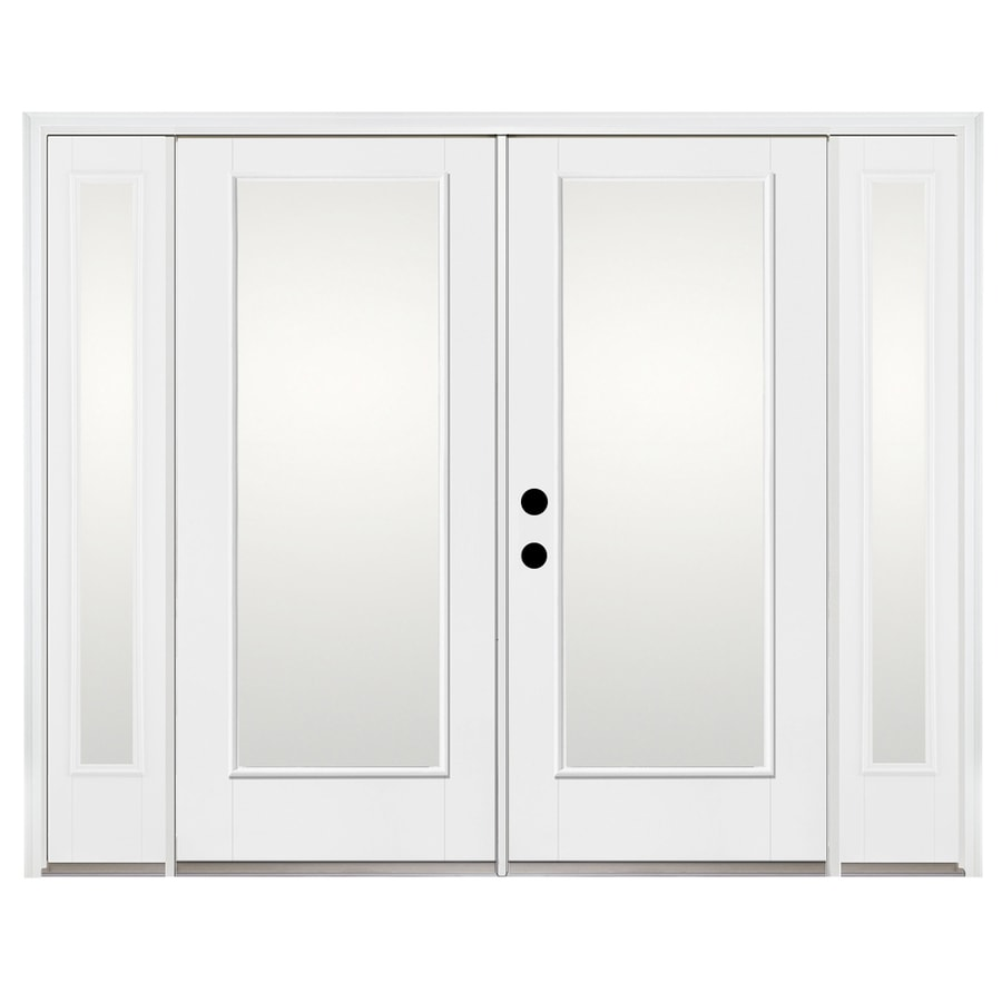 Benchmark by Therma-Tru 93.9375-in 1-Lite Glass Fiberglass French Inswing Patio Door
