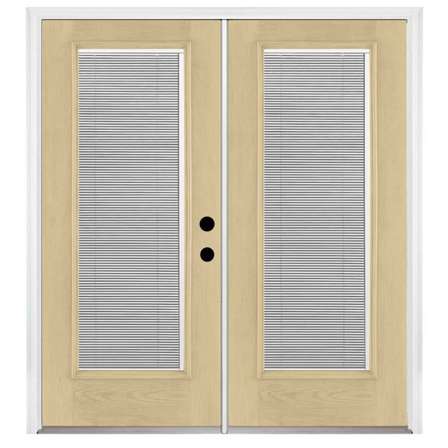 5625 in blinds between the glass fiberglass french inswing patio door