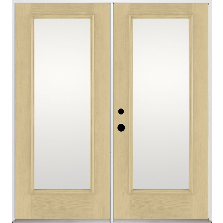 5625 in 1 lite glass fiberglass french inswing patio door at