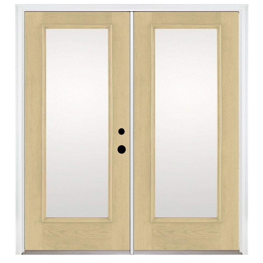 Benchmark by Therma-Tru 70.5625-in 1-Lite Glass Fiberglass French Inswing Patio Door