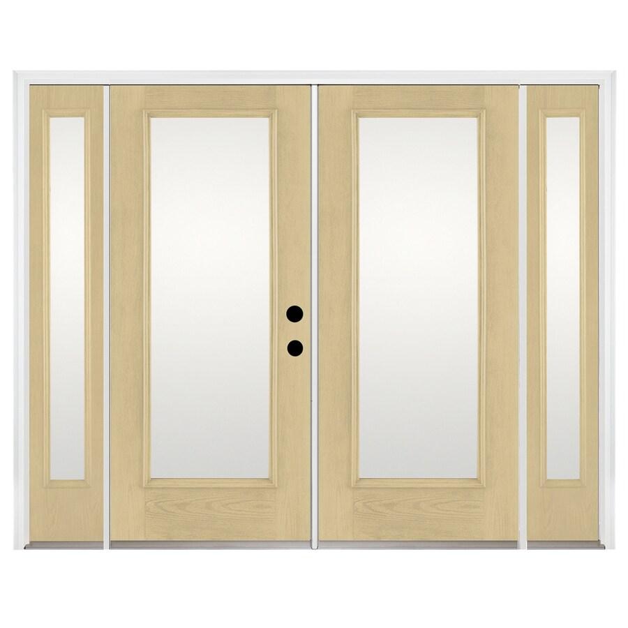 Benchmark by Therma-Tru 93.9375-in 1-Lite Glass Fiberglass French Inswing Patio Door