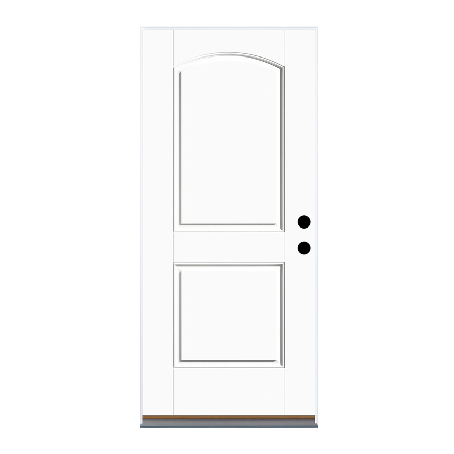 Therma-Tru Benchmark Doors 2-Panel Insulating Core Right-Hand Outswing Fiberglass Unfinished Prehung Entry Door (Common: 32-in x 80-in; Actual: 33.5-in x 80.5-in)