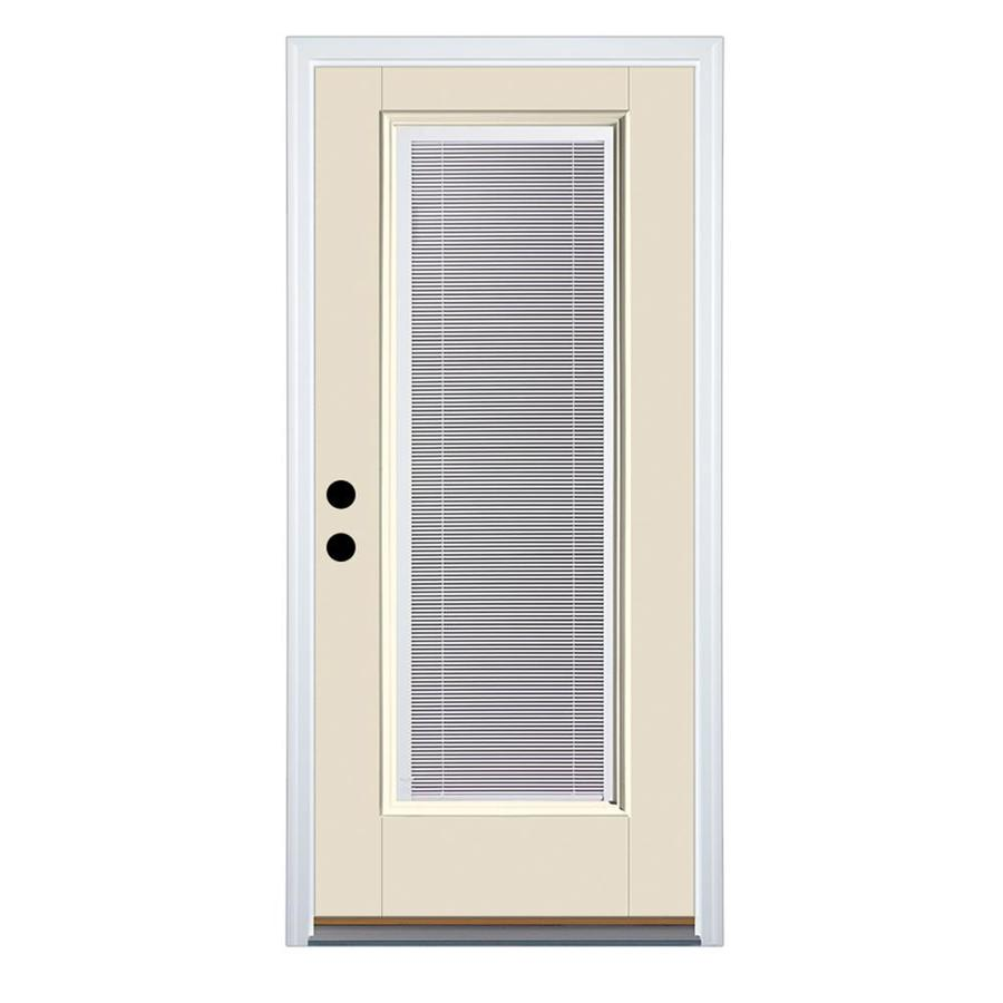 Therma Tru Benchmark Doors 36 In X 80 In Fiberglass Full Lite Right Hand Inswing Ready To Paint Unfinished Prehung Single Front Door Brickmould Included With Blinds In The Front Doors Department At Lowes Com Exterior shades are designed with the outdoors in mind, these shades can be customized for style and function. lowe s