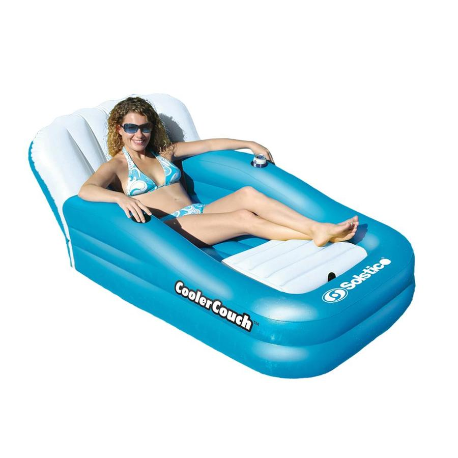 Shop Swimline Cooler Couch Aqua White Inflatable Lounger