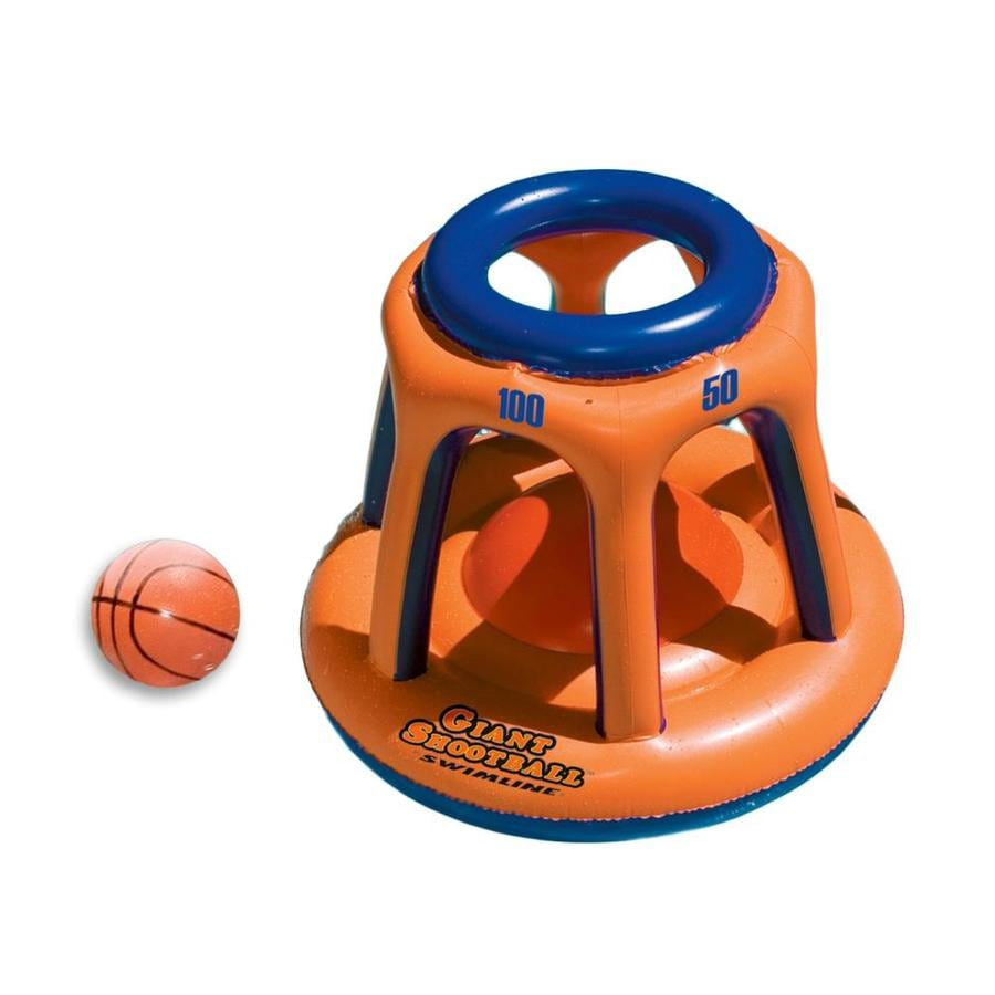 Swimline Orange Swimming Pool Basketball Set