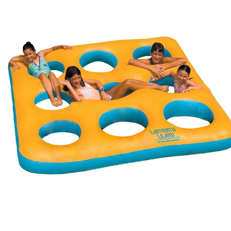 Swimline Labyrinth Island 9-Seat Yellow/Aqua Inflatable Raft