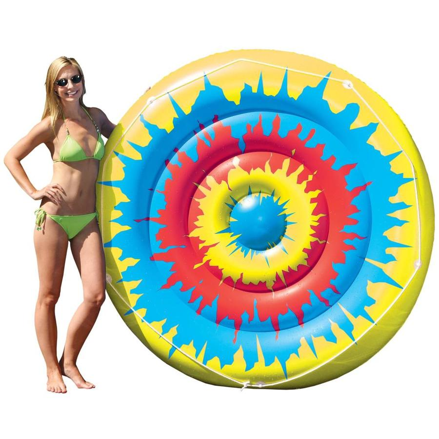 Swimline Tie Dye Island 2-Seat Multi-Color Inflatable Raft