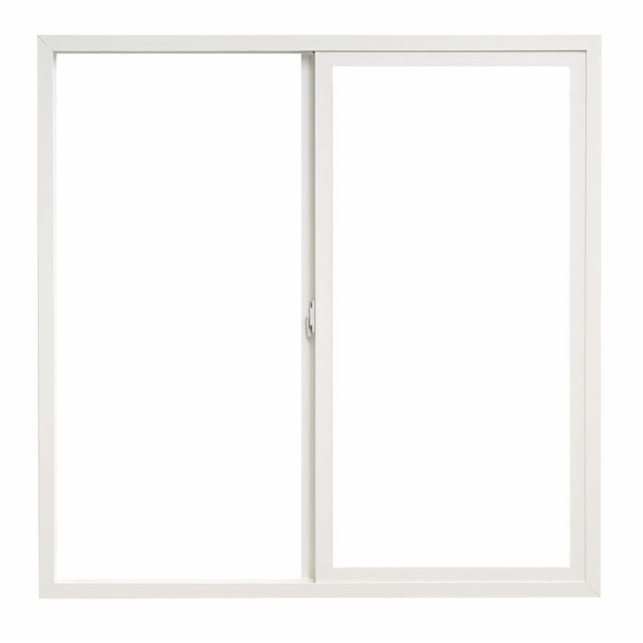 Pella 36X36 ThermaStar by Pella Sliding Window Vinyl 10 Series Clear Obscure Insulated Glass White with Screen