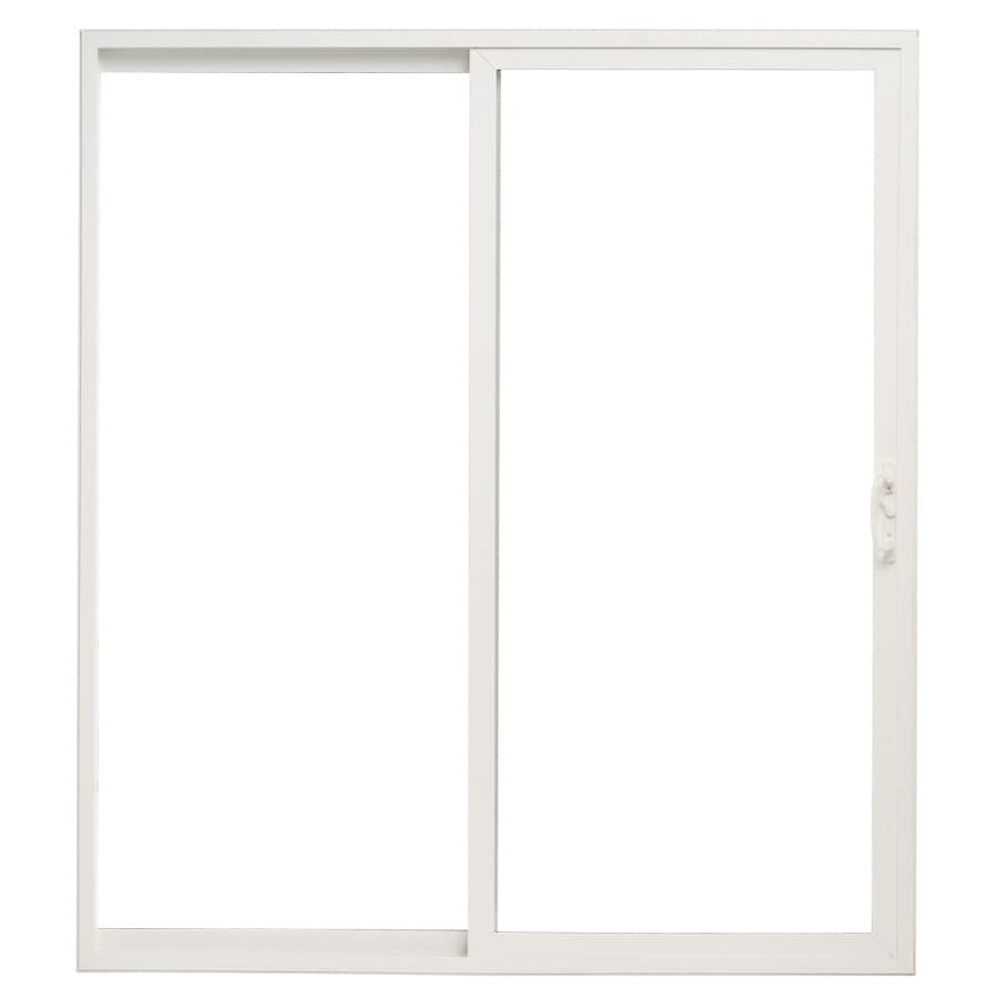 By Pella 10 Series 71 5 In Clear Glass White Vinyl Sliding Patio Door