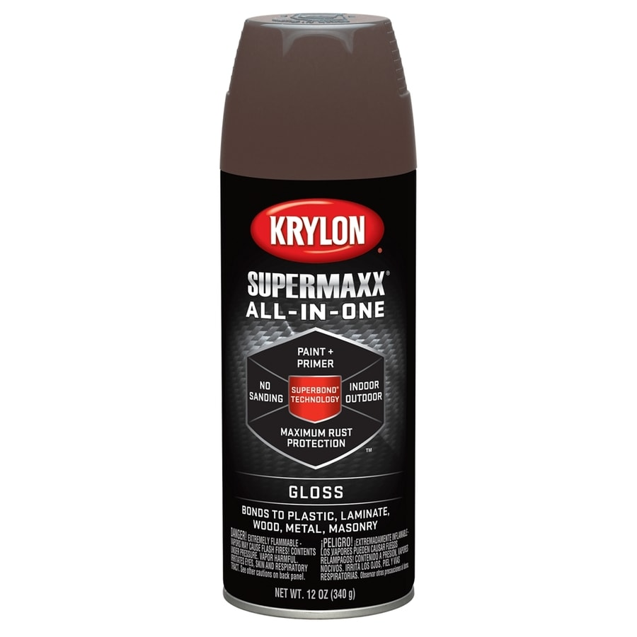 Krylon SuperMaxx Leather Brown Enamel Spray Paint (Actual Net Contents: 12-oz)