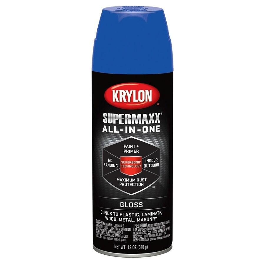Krylon SuperMaxx True Blue Enamel Spray Paint (Actual Net Contents: 12-oz)