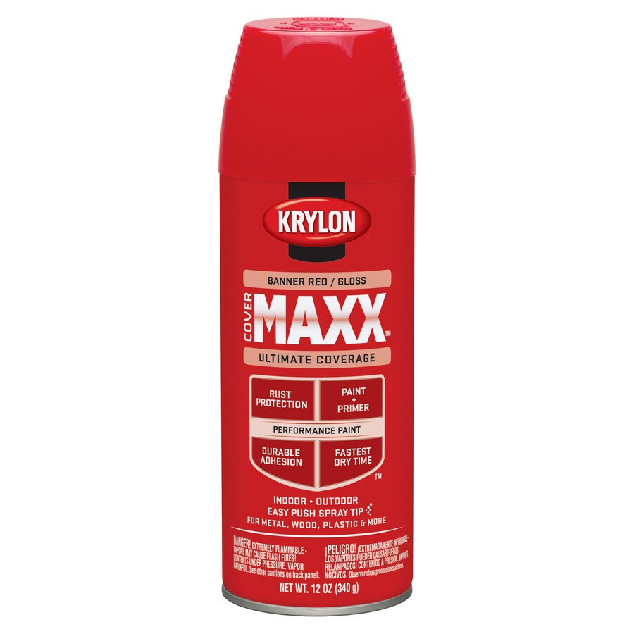 Krylon CoverMaxx Banner Red Enamel Spray Paint (Actual Net Contents: 12-oz)