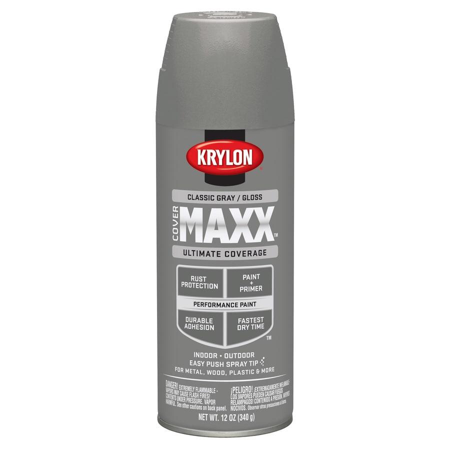 Krylon CoverMaxx Classic Gray Enamel Spray Paint (Actual Net Contents: 12-oz)