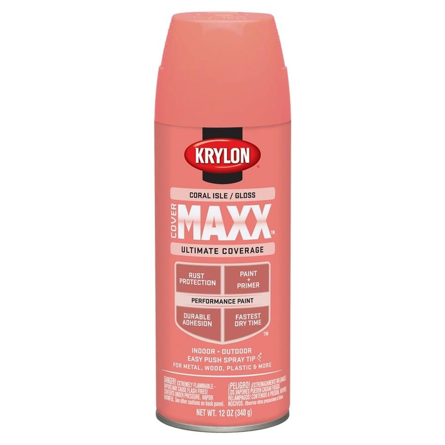 Krylon CoverMaxx Coral Isle Enamel Spray Paint (Actual Net Contents: 12-oz)