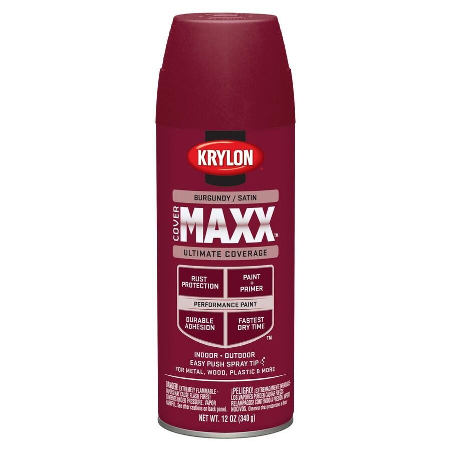 Krylon CoverMaxx Burgundy Enamel Spray Paint (Actual Net Contents: 12-oz)