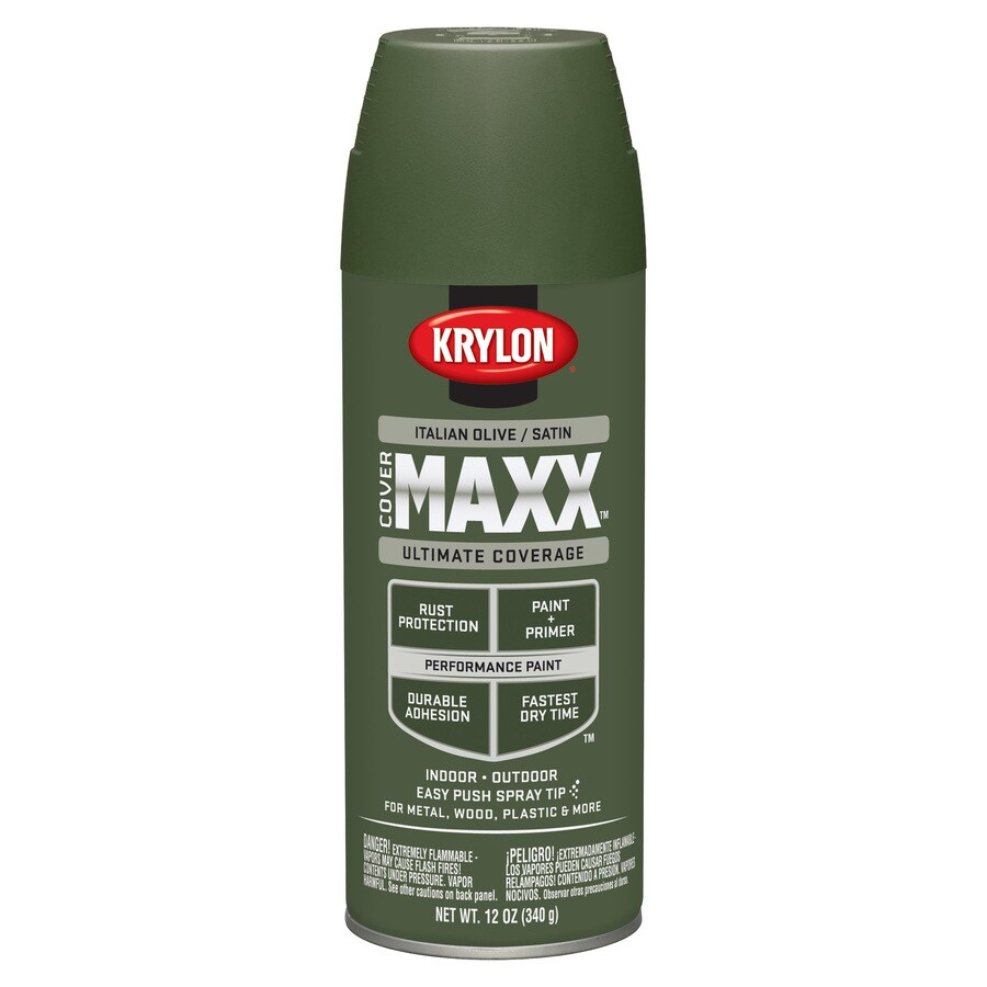 Krylon CoverMaxx Italian Olive Enamel Spray Paint (Actual Net Contents: 12-oz)