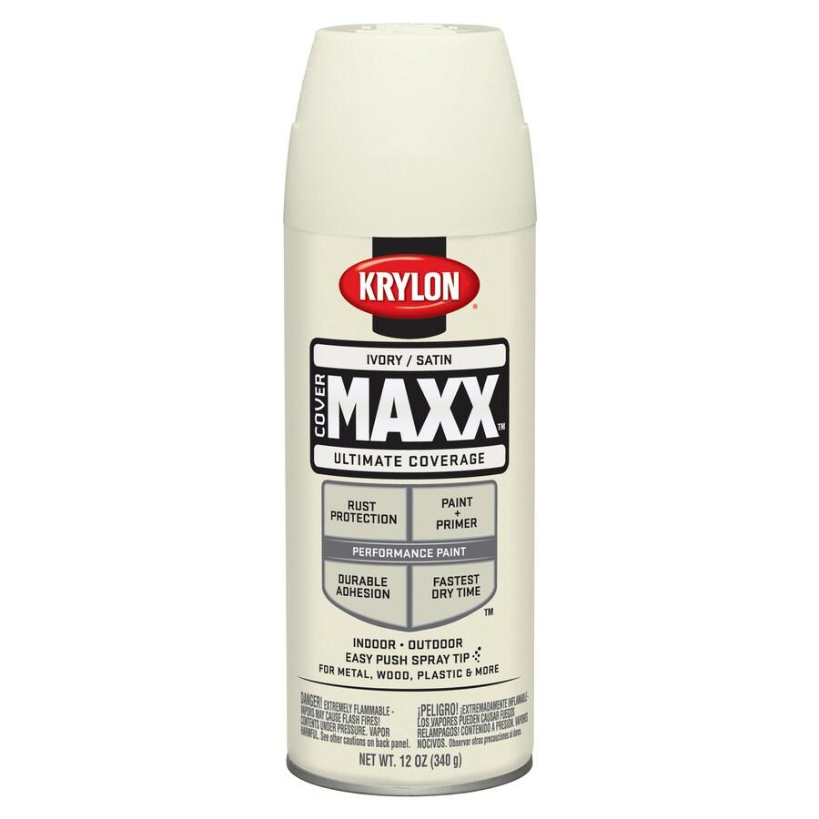 Krylon CoverMaxx Ivory Enamel Spray Paint (Actual Net Contents: 12-oz)