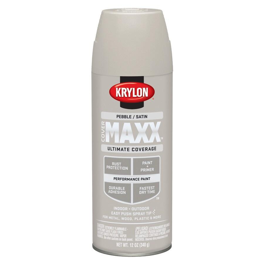 Krylon CoverMaxx Pebble Enamel Spray Paint (Actual Net Contents: 12-oz)