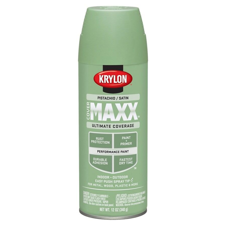 Shop Krylon CoverMaxx Pistachio Enamel Spray Paint (Actual Net Contents: 12-oz) at Lowes.com