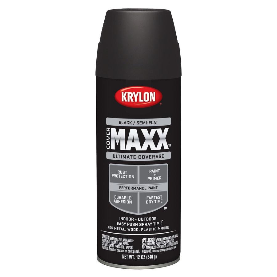 Krylon CoverMaxx Black Enamel Spray Paint (Actual Net Contents: 12-oz)