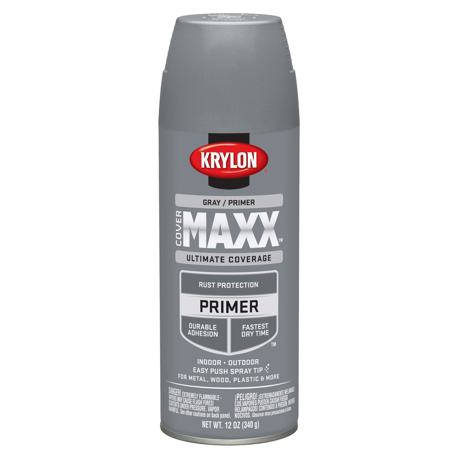 Krylon CoverMaxx Gray Enamel Spray Paint (Actual Net Contents: 12-oz)