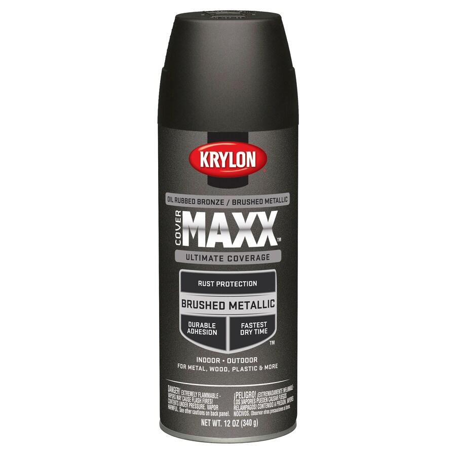 Krylon CoverMaxx Oil Rubbed Bronze Metallic Enamel Spray Paint (Actual Net Contents: 12-oz)