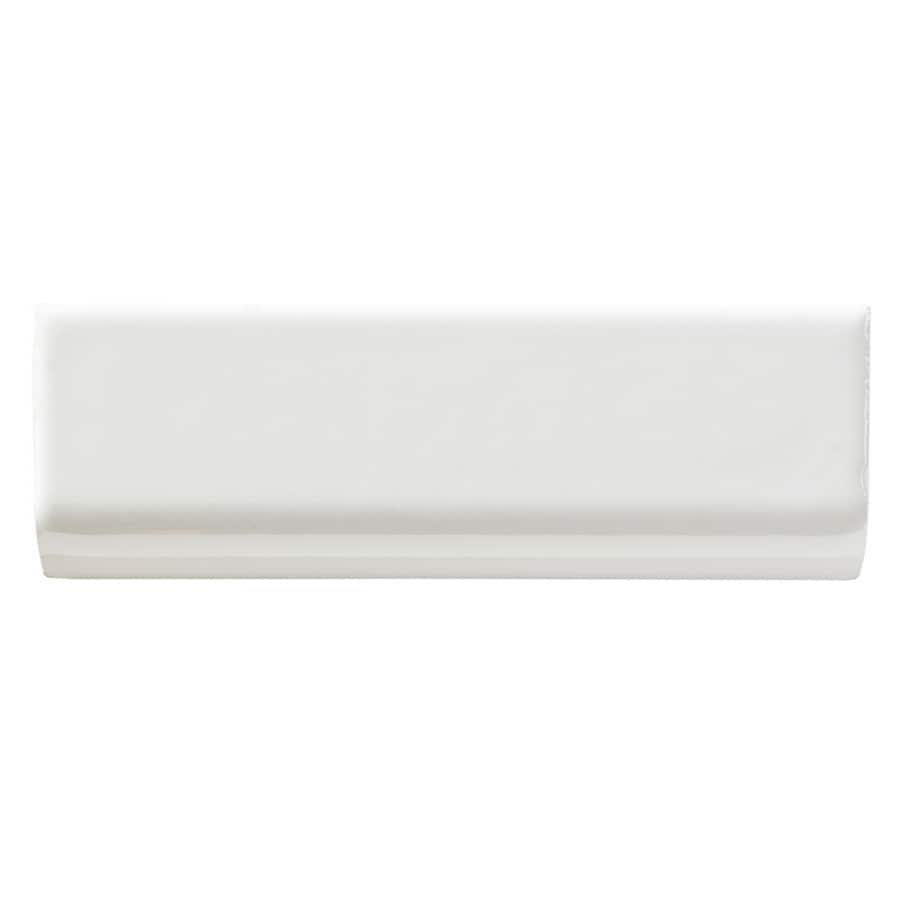 United States Ceramic Tile Color White Ceramic Wall Tile (Common: 2-in x 4-in; Actual: 6-in x 2-in)
